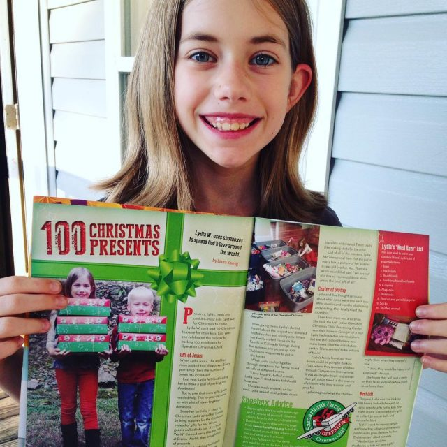 Eeeek! Lydias story of packing 100 shoeboxes is in Clubhousehellip