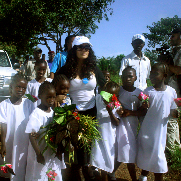 salma hayek unicef pampers