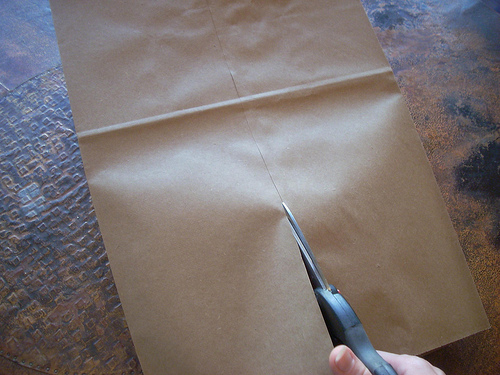Paper Bag Book Cover Tutorial ~ A back to school tutorial make paper bag book cover