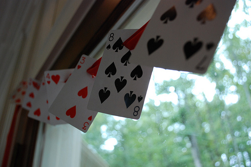 playing card garland