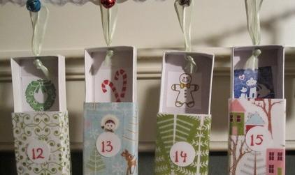 advent calendar garland