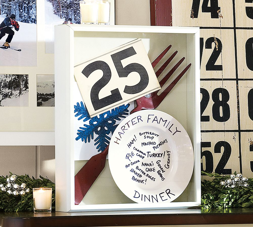 thanksgiving christmas shadowbox decoration memory