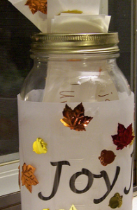 thanksgiving jar tradition preschooler