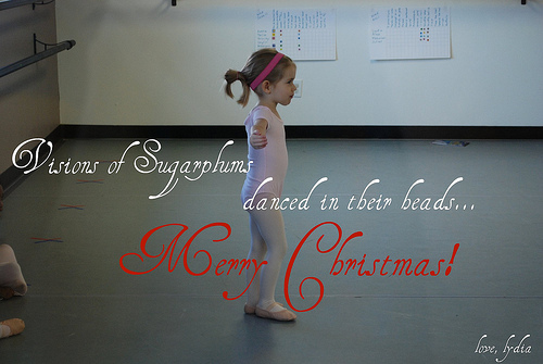 sugarplum christmas card ballet