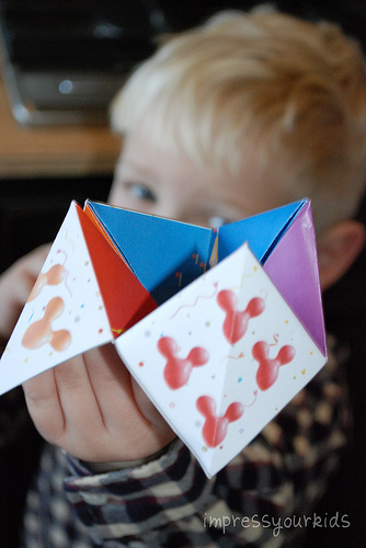 mickey mouse cootie catcher