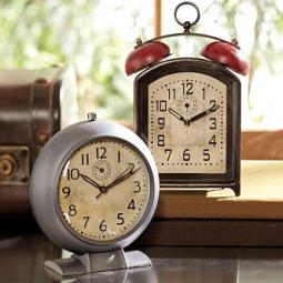 rustic alarm clock