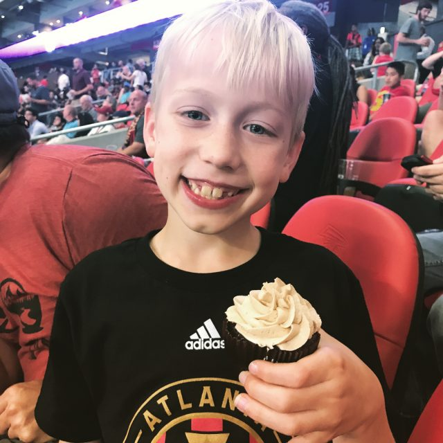 Happy 9th birthday to Asa at the Atlanta United game!hellip