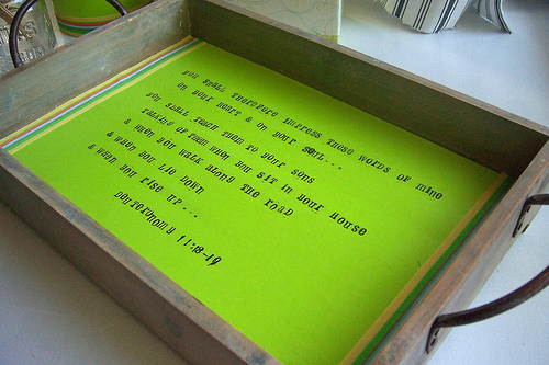 Impress Your Kids organizing tray