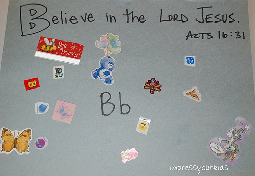 alphabet craft scripture letter b