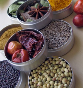 indian spices cooking