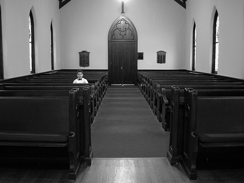 Boy in Church