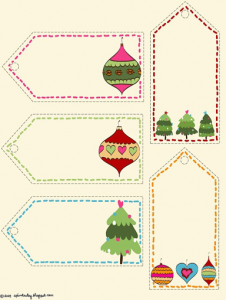 print christmas gift labels
