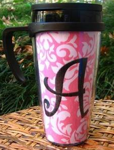 monogram travel cup