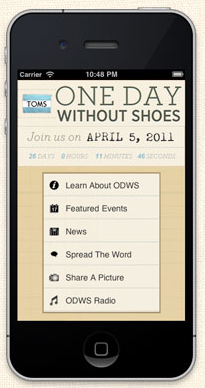 one day without shoes app