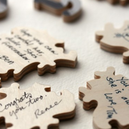 puzzle guest book