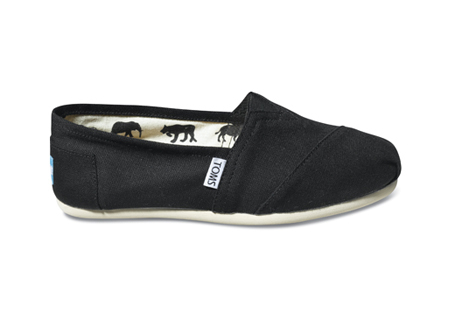 TOMS Shoes Black Women's Canvas Classics