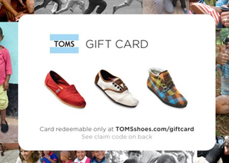 $50 TOMS Gift Card