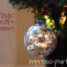 popcorn magic ornament