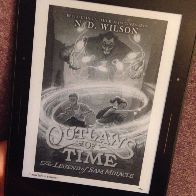 Finally opened up outlawsoftime by ndwilsonmutters Its just your typicalhellip