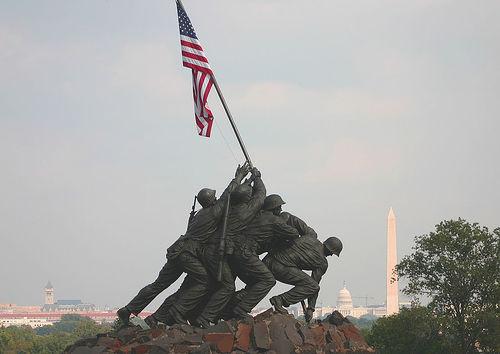 honoring flag