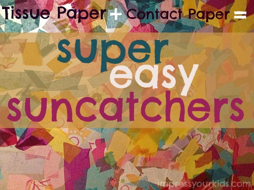 Tissue Paper Contact Paper Suncatchers