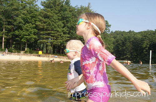 lake swimming with kids