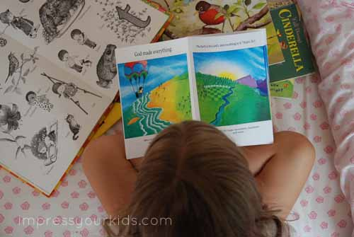 Bible Based Easy Reader Books for New Readers from impressyourkids.com