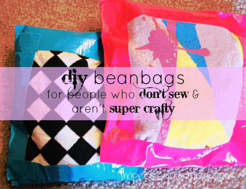 No Sew DIY Beanbags
