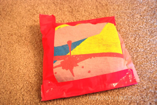 Upcycled Tshirt & Duct Tape Beanbags