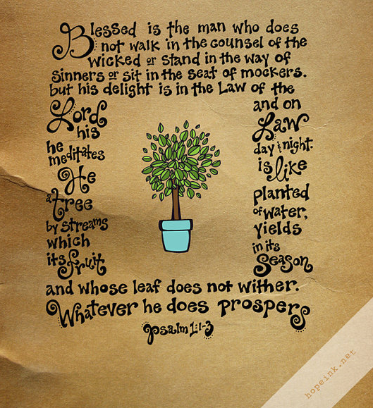 Psalm 1:1-3 by HopeInk.com