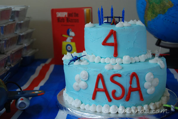 Airplane Flying Ace Party Cake