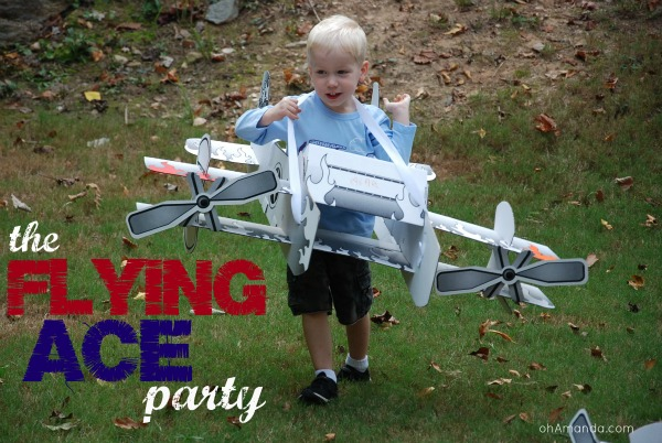A fun Flying Ace party with airplanes, parachutes & more! from ohAmanda.com
