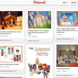Nativity Scene Pinterest Board
