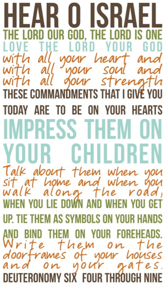 Deuteronomy 6:4-9 free printable art