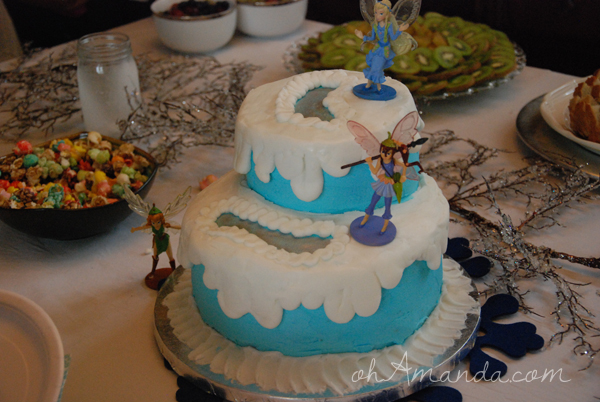 Ice Skating Pond Fairy Cake