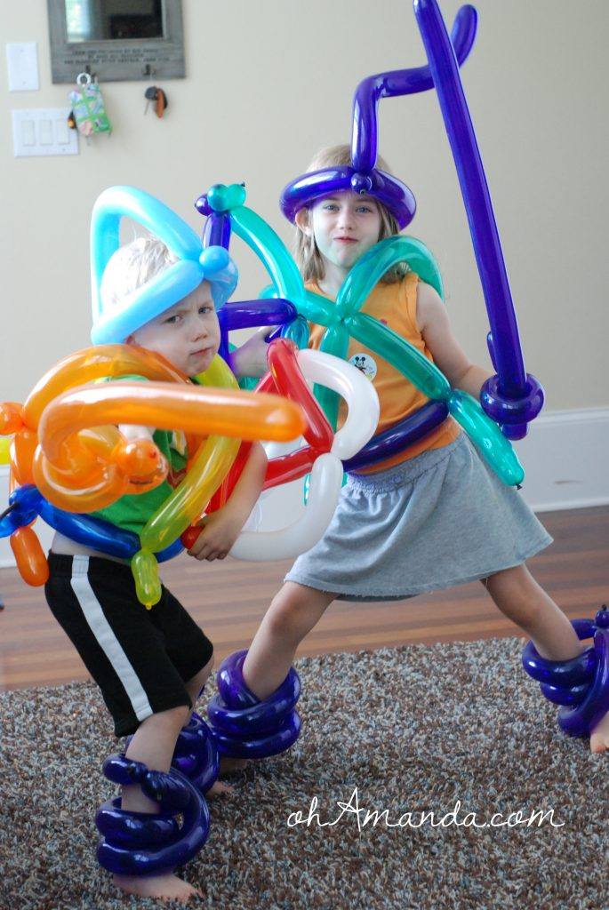Armor of God fun with balloons