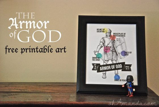 armor of god free printable art from AMEN designs & ohAmanda.com