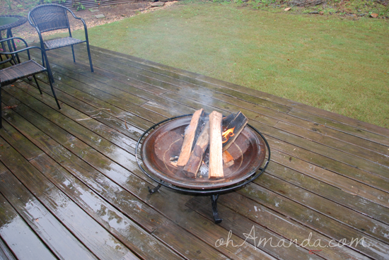 Camping Birthday Party Fire Pit