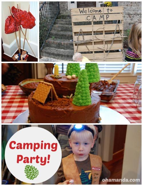 SUPER FUN Camping Birthday Party! // from ohAmanda.com