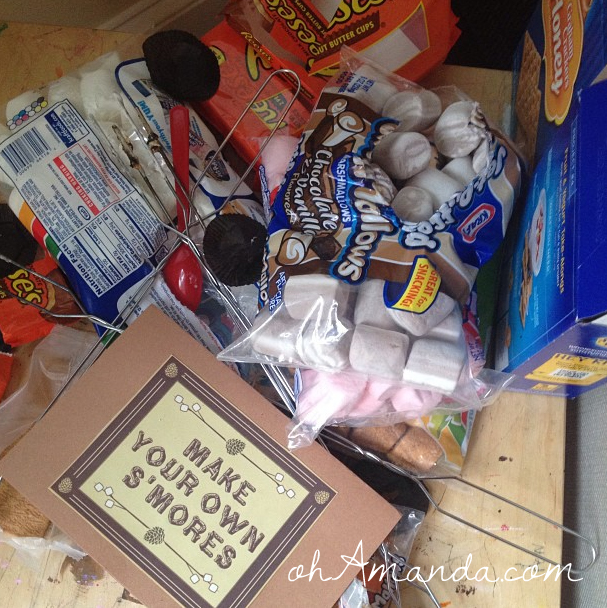 make your own smores camping birthday party