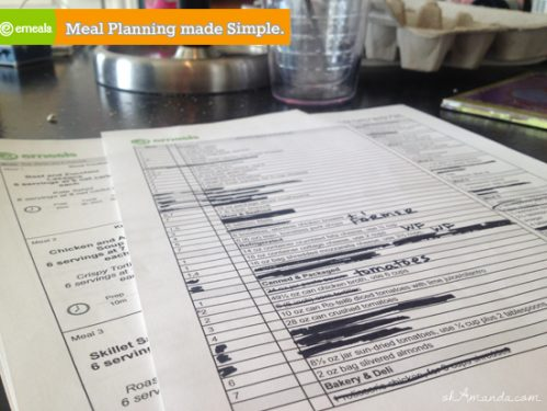 Printable Menus & shopping lists from emeals make menu planning so easy! // ohamanda.com