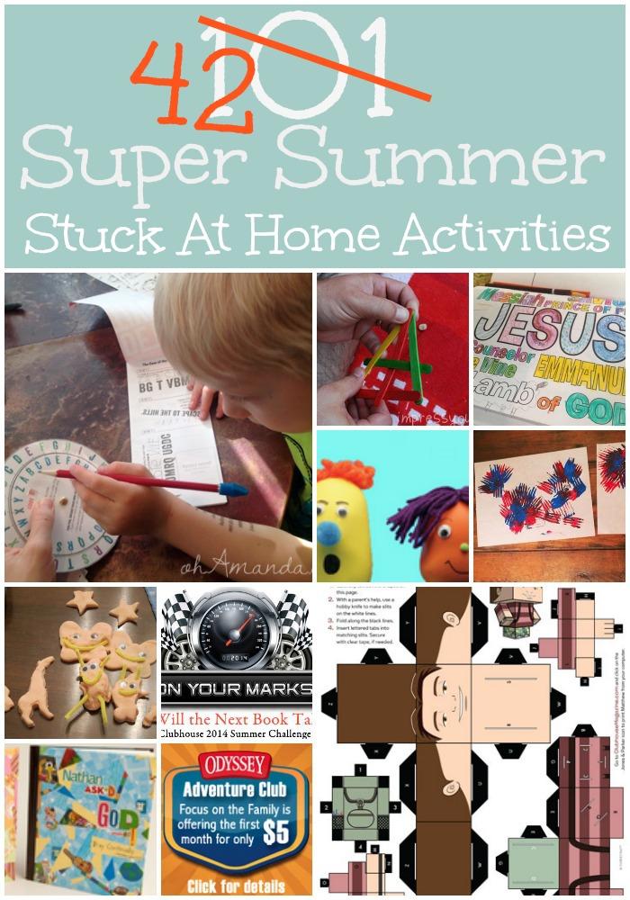 Super Summer Stuck at Home Activities // ohAmanda.com