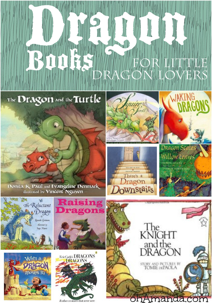 Dragon themed books for your little dragon lover! // ohAmanda.com