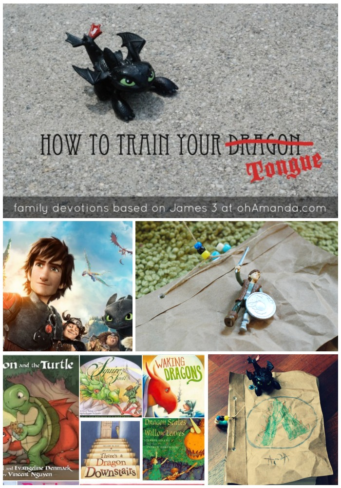 How To Train Your...Tongue // Fun family Bible devotions based on James 3 and How To Train Your Dragon 2 // ohAmanda.com #ohdragonweek