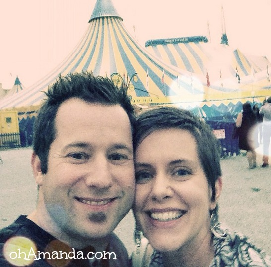 My husband & me. #cirqueselfie