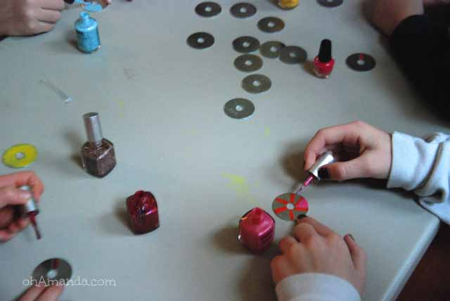 Operation Christmas Child Crafting Party // make washer necklaces!