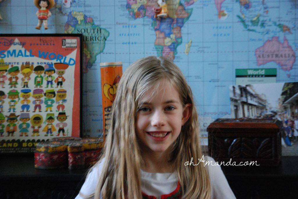 small world birthday girl