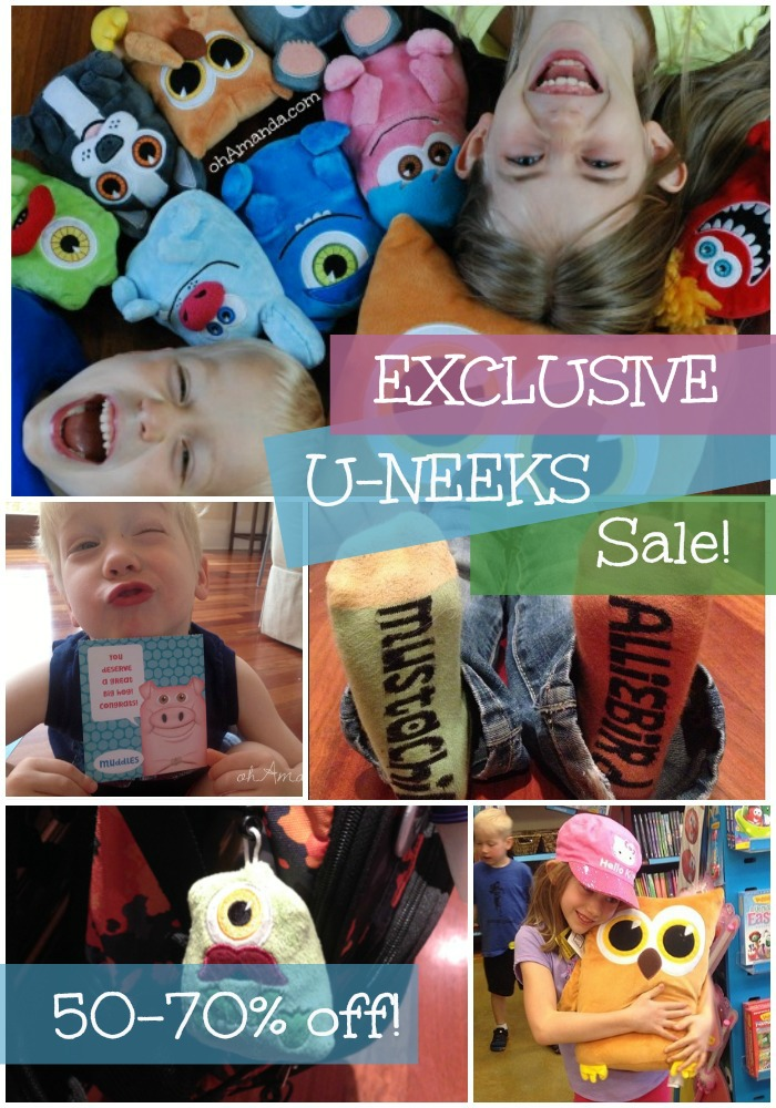 Exclusive U-NEEKS Sale for ohAmanda.com readers! Hand selected items for 50-70% off. PERFECT for meaningful Easter baskets!