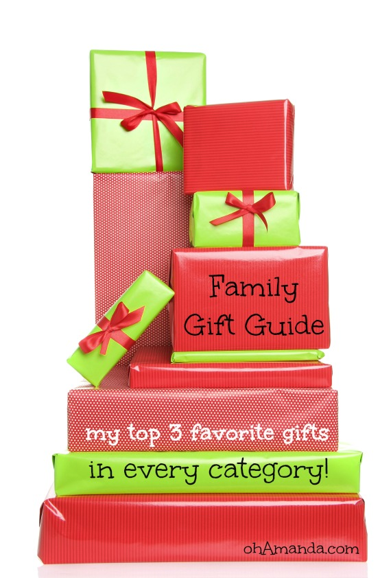 Top 3 crafts, DVDs, CDs and family gifts! // a gift guide from ohAmanda.com