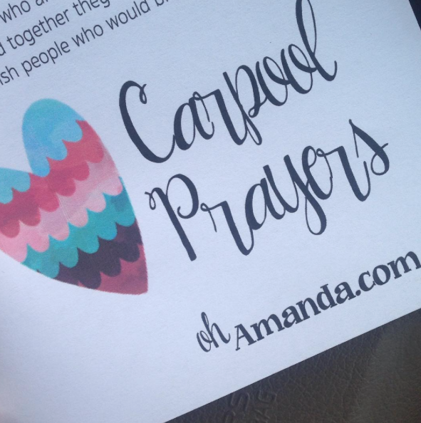 Carpool Prayers a free printable from ohAmanda.com